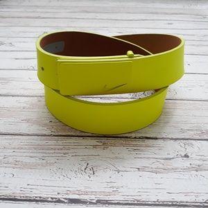 NIKE Genuine Leather Golf Belt Neon Size 36